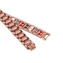 LITTLE FROG Magnetic Health Energy Power Pure Copper Scalar Quantum Care Bracelet Double Bio ElementsMen Women Bracelets Bangles