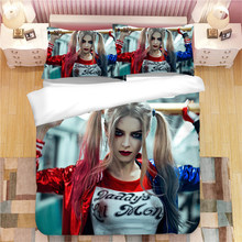 Suicide Squad Harley Quinn bedding set Duvet Covers Pillowcases X Task force Joker comforter bedding sets bedclothes bed linen(China)