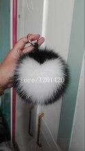 Super15cm Heart Pompom Fox Fur Furry Bag Charms Bag Bug Luxury Lady Bag Accessory Fashion Shoulder Bag Charm Tote Wallet Charm