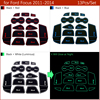 Anti-Slip Gate Slot Mat Rubber Coaster for Ford Focus 3 MK3 2011 2012 2013 2014 pre-facelift ST RS Accessories Car Stickers 13Pc promo
