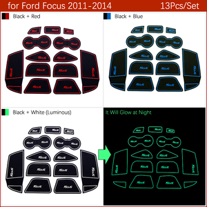Image 4 - Anti Slip Gate Slot Mat Rubber Coaster for Ford Focus 3 MK3 2011 2012 2013 2014 pre facelift ST RS Accessories Car Stickers 13Pc