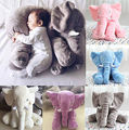 Long Nose Elephant Doll Pillow Soft Plush Stuffed Toy Lumbar Pillow For Baby Kids 5 Colors Baby Animals Stuffed Toy