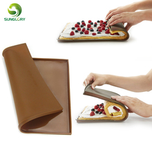 Non-stick Silicone Oven Mat Cake Roll Mat Pan Swiss Roll Mat Macaron Cake Pad Silicone Baking Rug Mat Sheet Baking Pastry Tools premium superior quality norpro silicone pastry mat with measures