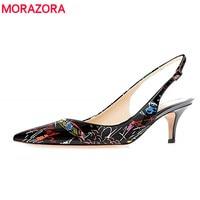 MORAZORA Plus size 35 45 New High Heels Women Pumps Pointed Toe Stilettos Fashion Graffiti High Quality Summer Ladies Shoes