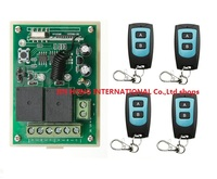 DC12V 2CH RF Wireless Remote Control System Teleswitch 4 Transmitter And 1 Receiver Universal Gate Remote