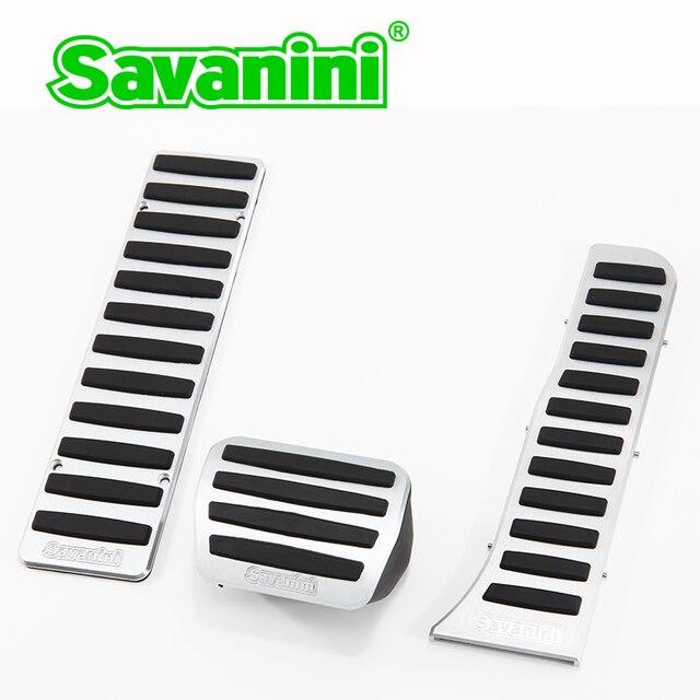 Savanini Автомобиля Педали Комплект Без бурения Для VW Golf6/Tiguan/Touran/Magotan/Sagitar/CC/EOS/Scirocco MK6 AT Алюминиевый сплав