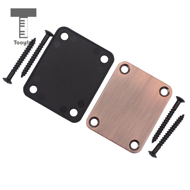 Tooyful Neck Plate&4 Screws For Strat/Tele Style Electric Guitar/Bass Purple Bronze