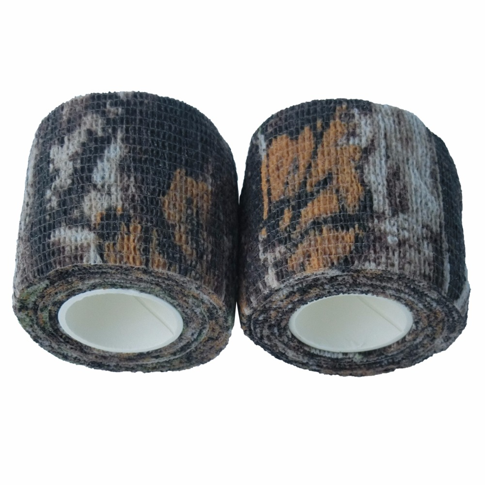 24 Rolls Bionic Camouflage Stretch Tapes Cohesive Hunting Camping Tactical Bandage Bike Modified Camo Tape Outdoor Essential