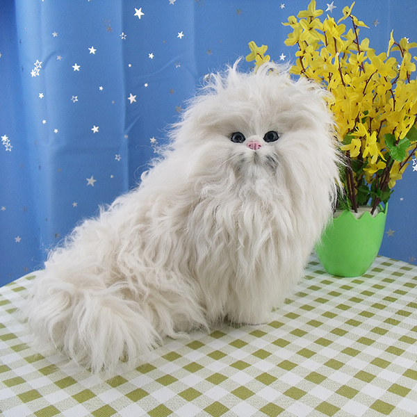 new simulation Persian cat toy polyethylene&furs white sittig cat model doll gift about 28x18x21cm 2374 new simulation red fox toy polyethylene