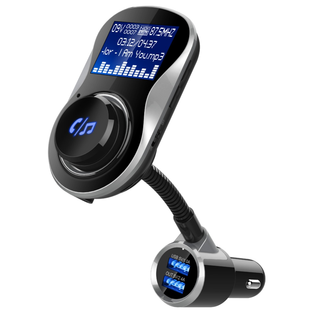 1.5 inch Rotatable Bluetooth Car Kit Wireless HandFree Safety Bluetooth FM Transmitter for Automobile Car Accessories