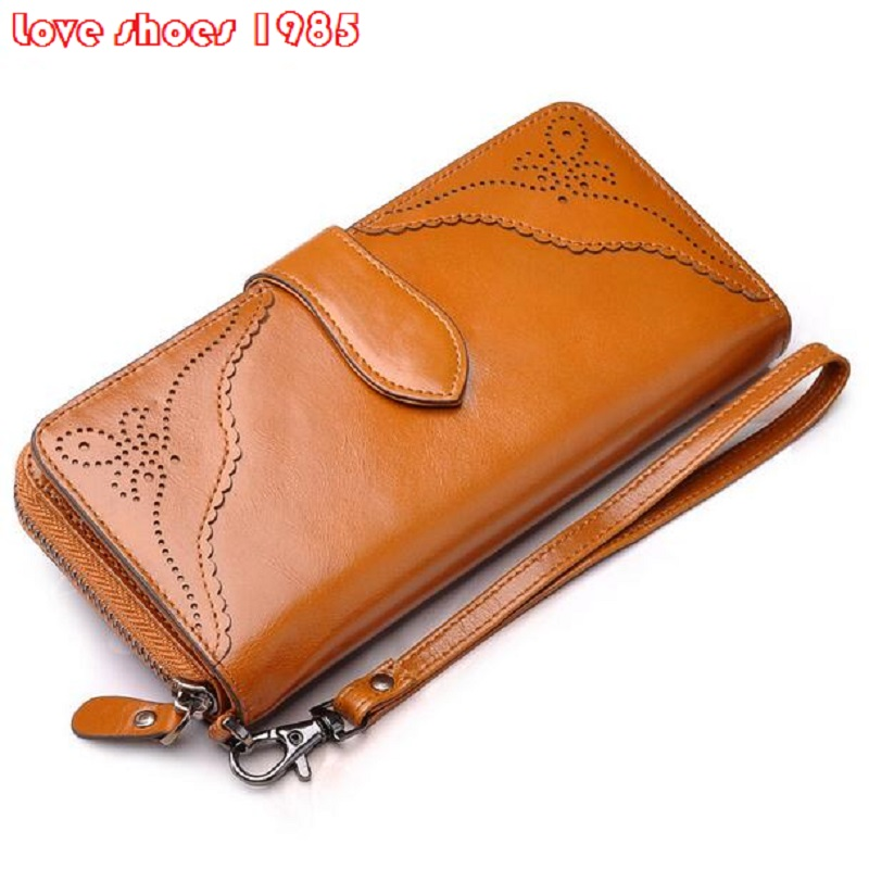 VEEVAN Hot Sales 2016 First Layer Of Cowhide Female Wallets Zipper Genuine Leather Long Design Lovers Men/Women Wallets