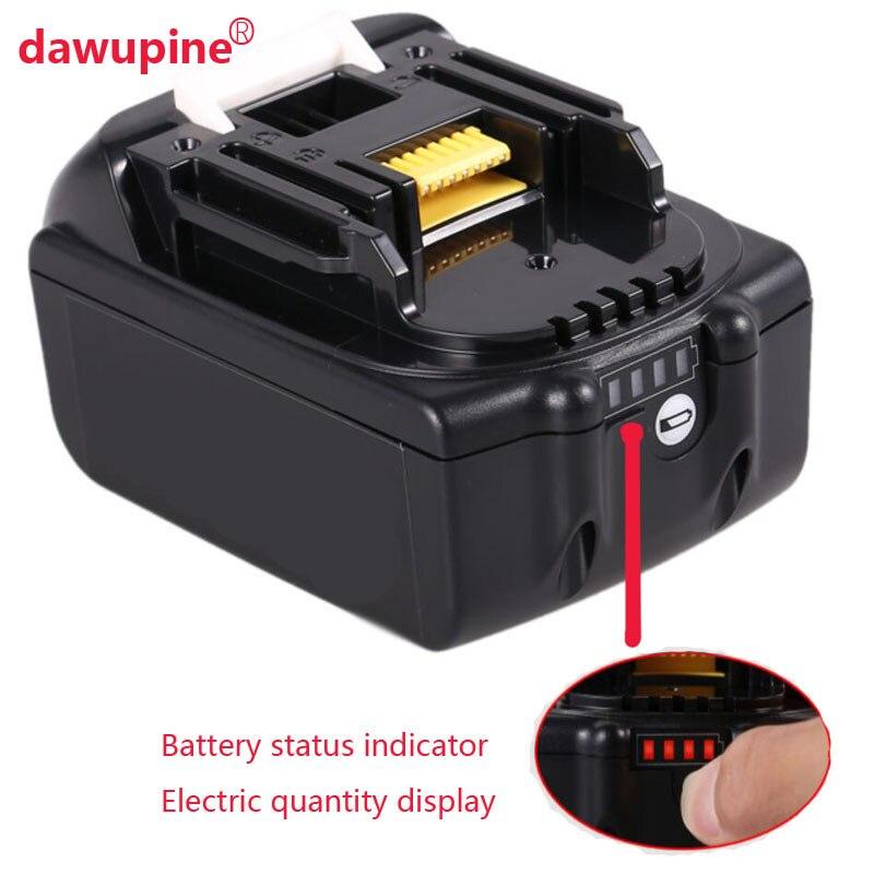 dawupine Li-ion Battery Case Charging Protection Circuit Board Label Box For Makita 18V BL1830 3.0Ah 5.0Ah LED Battery Indicator
