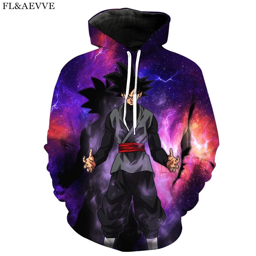 FL & AEVVE homme/sweat à capuche pour femme Style ample imprimé japonais Anime Dragon Ball Goku 3d Sweatshirts grande taille 6XL