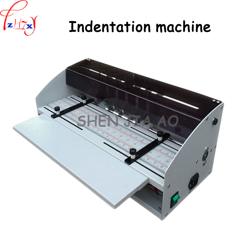 H500 electric indentation machine dotted line/indentation/slitter cutting cover business card indentation folding machine 1pc