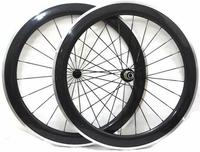 700c Chinese Factory Width 23mm Carbon Clincher Road Bike Wheels 60mm Alloy Brake Surface P0werway R36