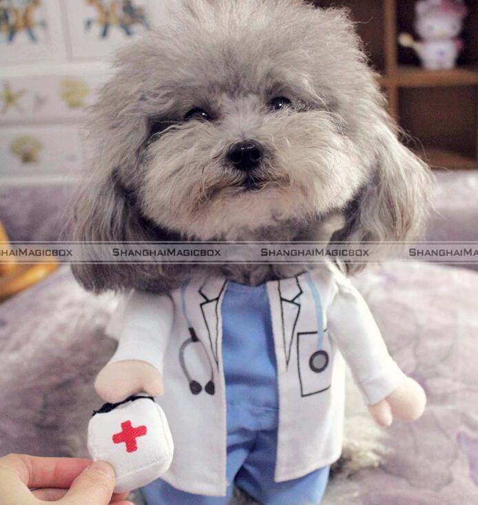 Baby Pet Vet Little Foot Doctor: Funny Pet Dog Cat Costume Clothes Clothing Shirt Halloween