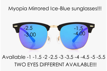 =CLARA VIDA= 2018 NEW CONCEPT ICE BLUE MIRRORED REAL POLARIZED POLAROID MYOPIA PRESCRIPTION SUNGLASSES -1 -1.5 – 2- 2.5 -3 -3.5