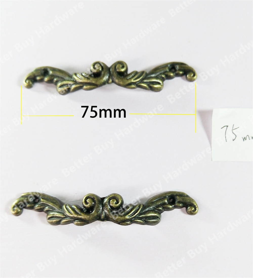5pcs 75mm classic style antique brass furniture handle/pull/knob for doors/cabinets/drawers chrome plated modern handle c c 320mm l 343mm h 23mm drawers cabinets