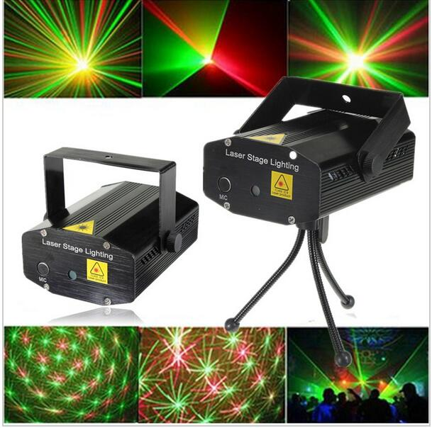 Xl S D06 Mini Voice Automatic Control R G Laser Lights Lighting Projector Disco Dj