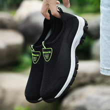 2019 Mode Mannen Casual Schoenen Slip-on Zomer Ademend Air Mesh mannen Flats Trainers Sneaker Water Loafers Schoen mens Big Size(China)