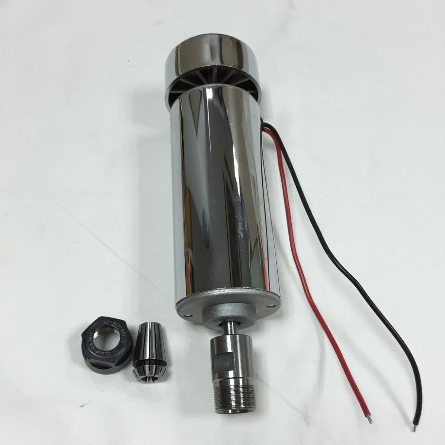 400W Air cooled Brushed ER16 Spindle Motor 3000-12000rpm 8MM 12-48VDC 230mN 52mm for CNC Carving Milling400W Air cooled Brushed ER16 Spindle Motor 3000-12000rpm 8MM 12-48VDC 230mN 52mm for CNC Carving Milling