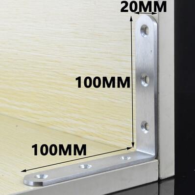 Custom Decoratieve 90 Graden Hoek Beugel Voor Bed Frame, 100mm Lengte X 100mm Breedte X 20mm Hoogte Voldoende Aanbod