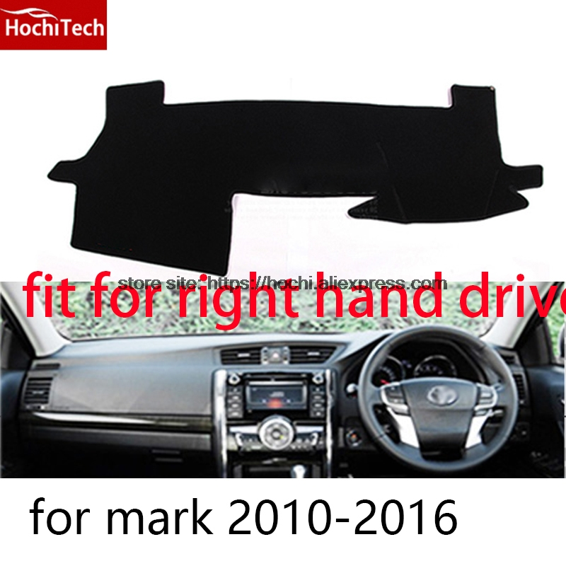 For toyota Mark x Reiz right hand drive dashboard mat Protective pad black car-styling Interior Refit Sticker Mat products for toyota prius 2012 2013 right hand drive dashboard mat protective pad black car styling interior refit sticker mat products