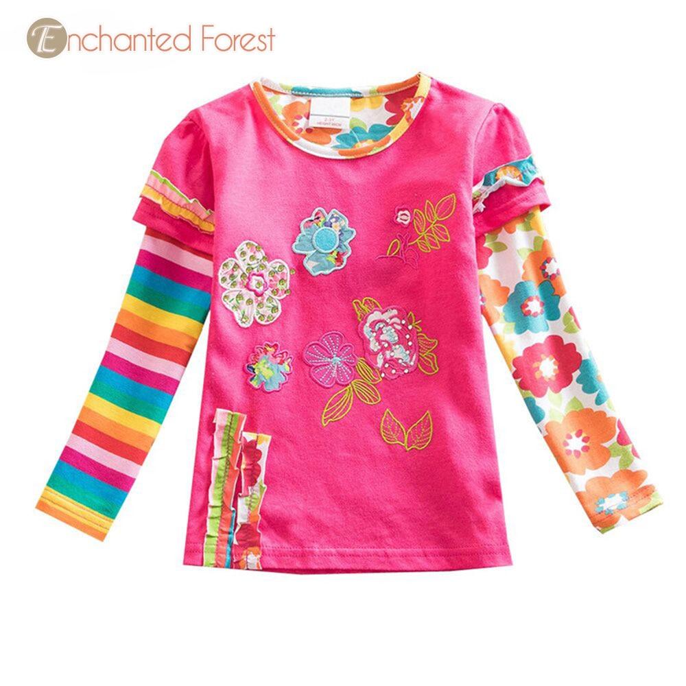 Children 39 s T shirt 2019 spring new cartoon cotton children 39 s clothes girls long sleeved T shirt baby print shirt girls T shirt in T Shirts from Mother amp Kids