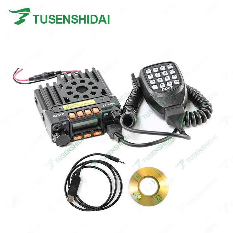 Émetteur-récepteur Radio CB de voiture Mobile d'origine QYT KT-8900 VHF 136-174 MHZ UHF 400-480 MHZ avec câble de programmation et logiciel