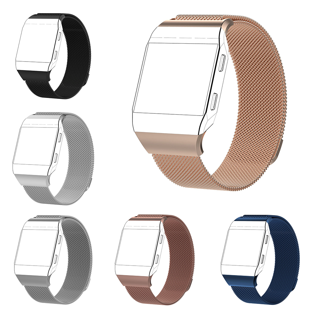 For Fitbit Ionic Stainless Steel Metal Strap Milanese Loop Mesh Wrist Watch Band