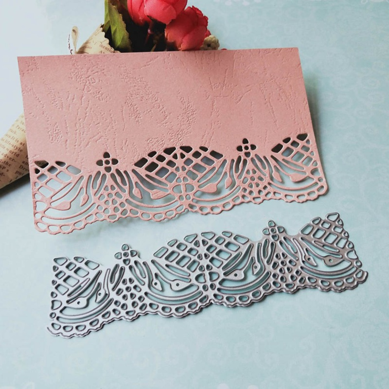 metal cutting dies cut lace edge frame background gate diy