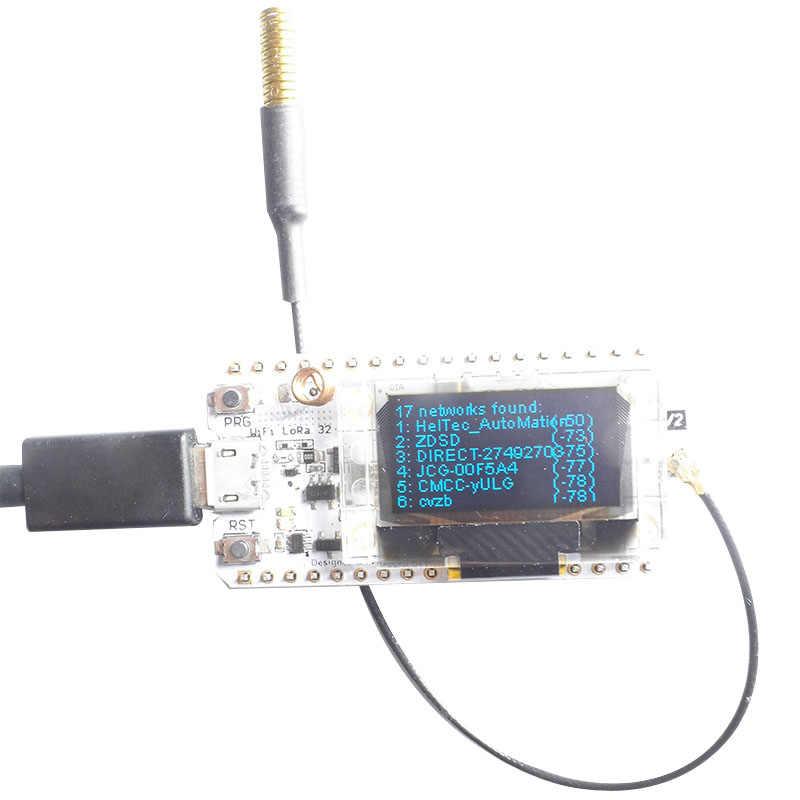 LoRa ESP32 0 96 Inch Blue OLED Display SX1278 Bluetooth WIFI Lora Kit 32  Module Internet Development Board for Arduino w/Antenna