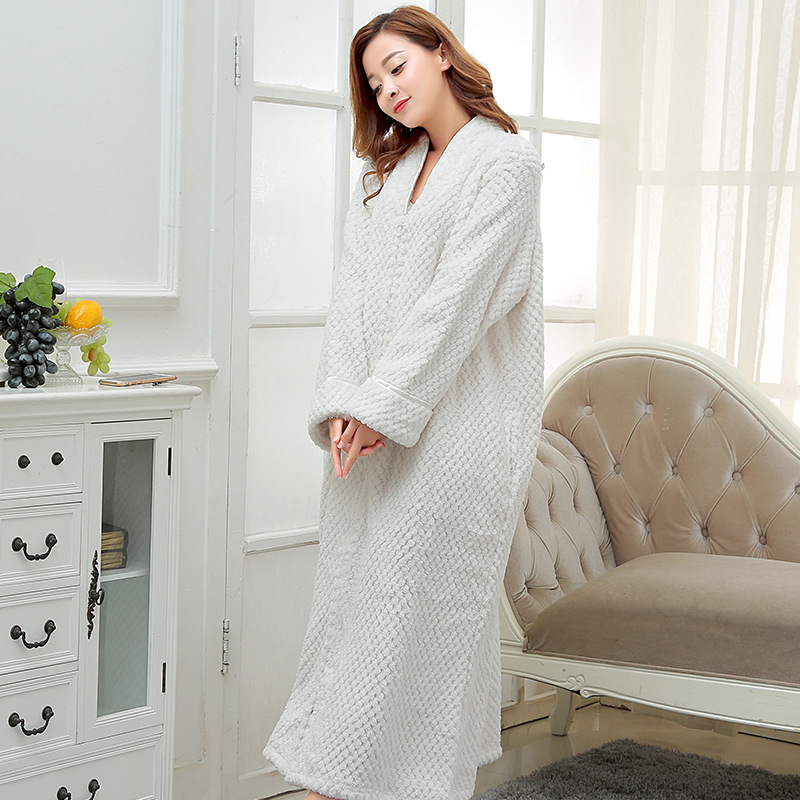 Detail Feedback Questions about White TOWELLING BATH ROBE Ladies Cozy zip  up Long dressing gown Bath robe housecoat Fleece Dressing Gown Robe for  women M ... 210ccec34
