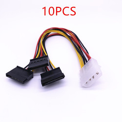 10/20/30/40/50/100 sztuk 4 Pin IDE Molex do 3 Serial ATA SATA rozdzielacz mocy złączki kablowe