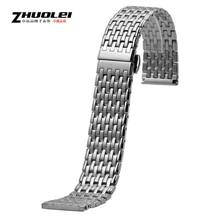 20 мм 22 мм из нержавеющей стали замена развертывания ремешок полосе часы застежка