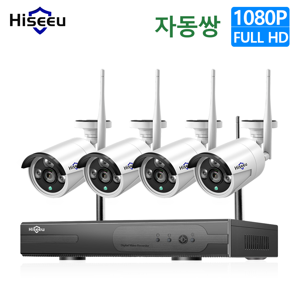Hieeu 1080P Wireless CCTV Camera System 1080P HDD 2MP 4CH NVR IP outdoor CCTV Camera IP Security System video Surveillance KitHieeu 1080P Wireless CCTV Camera System 1080P HDD 2MP 4CH NVR IP outdoor CCTV Camera IP Security System video Surveillance Kit