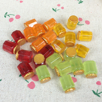 Mixed 4 Colors Flat Back Resin Cabochon Artificial Fairy Garden Bottle Flatback Embellishment Accessories Scrapbooking:10*12mm