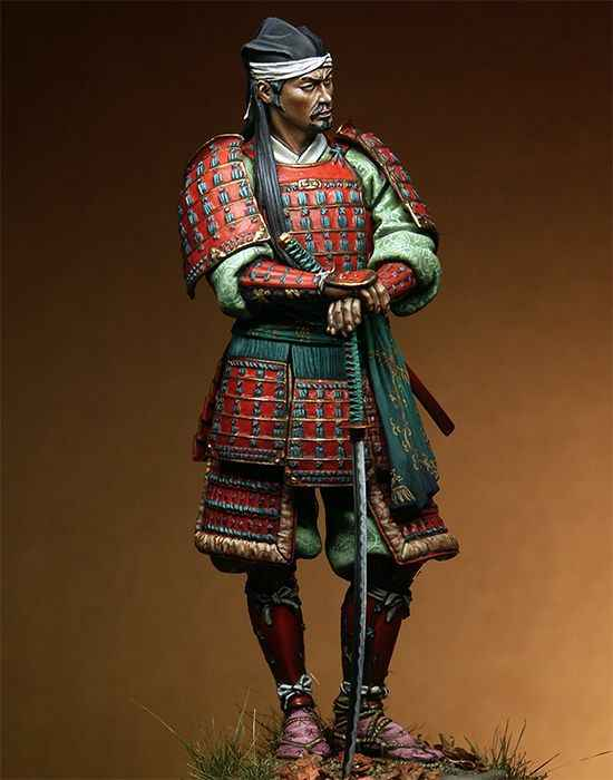 Unpainted Kit  1/18 90mm Japanese samurai with sword 90mm   figure Historical resin Figure Resin  Kit Free Shipping
