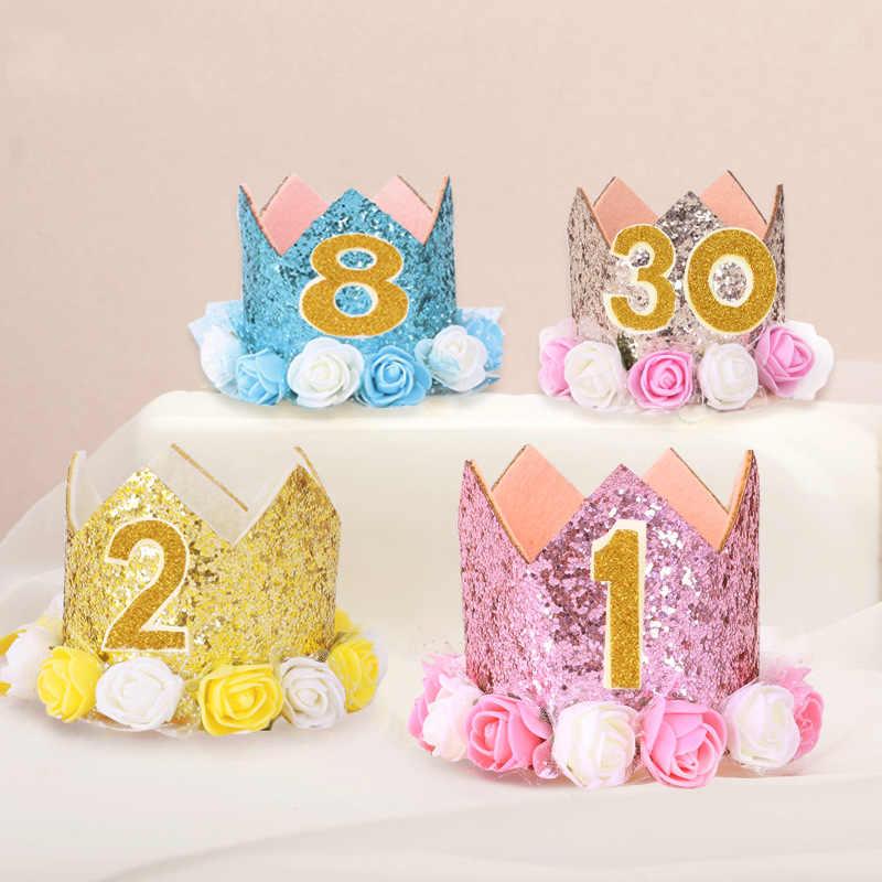 เด็กทารกเด็กใหม่สาวการ์ตูนหมวกวันเกิดปาร์ตี้หมวกเจ้าหญิงทอง prince Crown หนึ่งสองสามปี self - sticking
