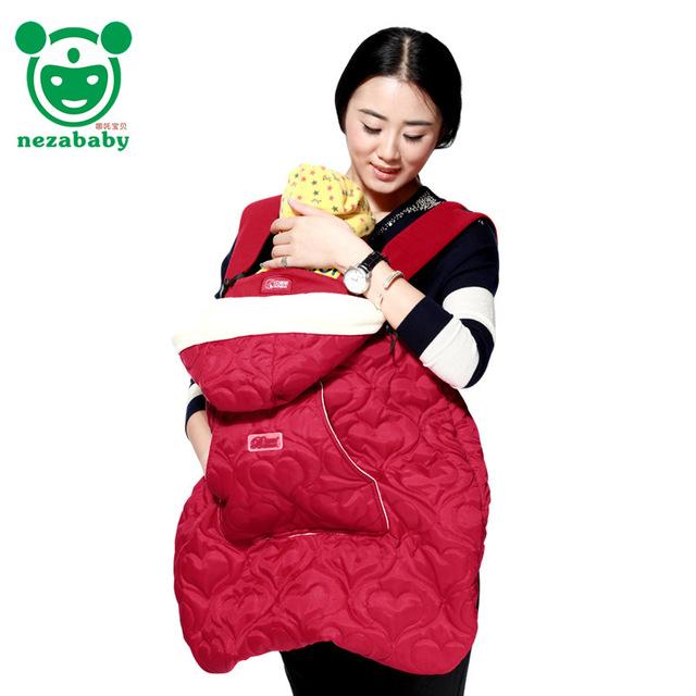 2016 Inverno Capa Manto Bebê Infantil Mochila Transportadora Estilingue Do Bebê Portador de Bebê Vento Manto Capa BD06