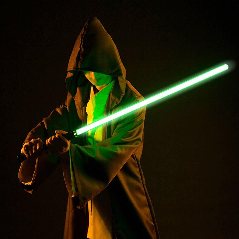 LGT 2019 offre spéciale Lumière saber Métal Duel Épée Sabre Laser Cosplay Clignotant Laser Enfants Cadeau Enfants Guerres Jouet Unique couleur