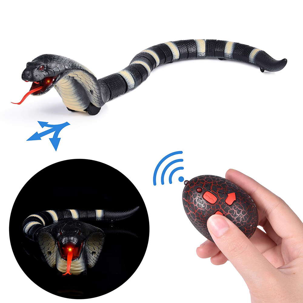 New Style Infrared Remote Snake Radio Control Naja IR RC Snake Bionic Reptile Animal Infrared Control Interesting Toys(China)