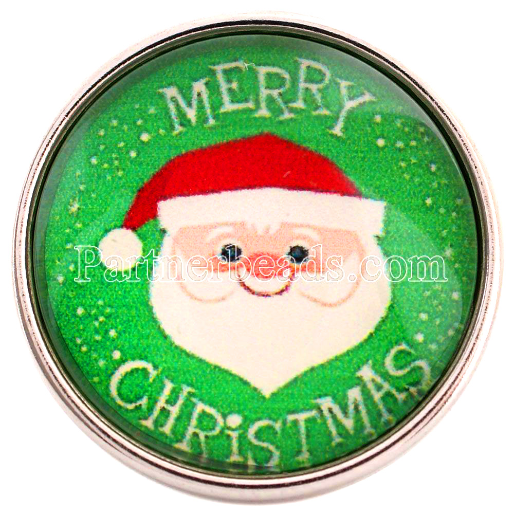PARTNERBEADS 20mm Glass Snap Jewelry Christmas Gift Santa Claus And Deer Print Snap Butt ...