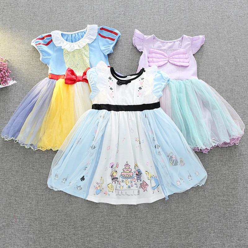 Princess Snow White Pattern Dress Children's Day Fairy Tutu Mini Dress Kids Fancy Party Dress Costume Character Dress Cloth светильники trousselier абажур princess fairy 34х22 см