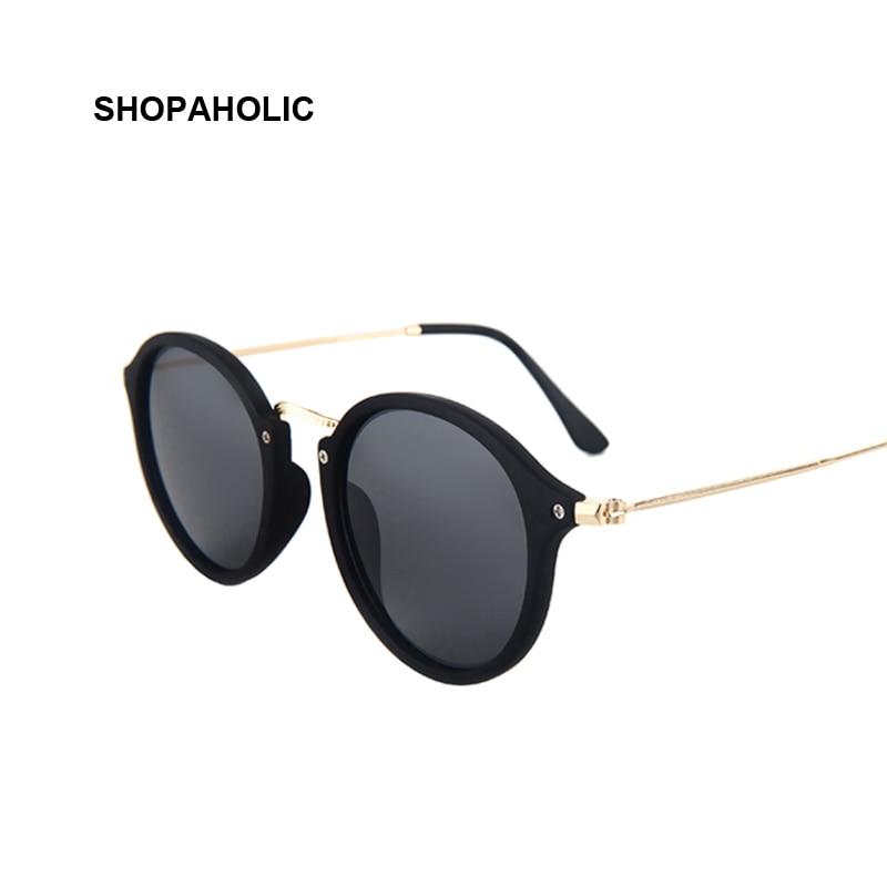 Black Sunglasses Women Brand Designer Vintage Mirror Sun Glasses for Women Round Vintage Sunglasses Ladies Female Oculos De Sol