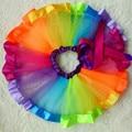 Children Rainbow Dance Skirt Gauze Fluffy Tutu Skirts for Kids Girls Clothing In Show SKI004