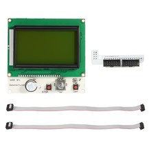 1 x LCD 12864 3D Printer Smart Display Screen + 1 x Control panel adapter + 2 x 30cm Cables
