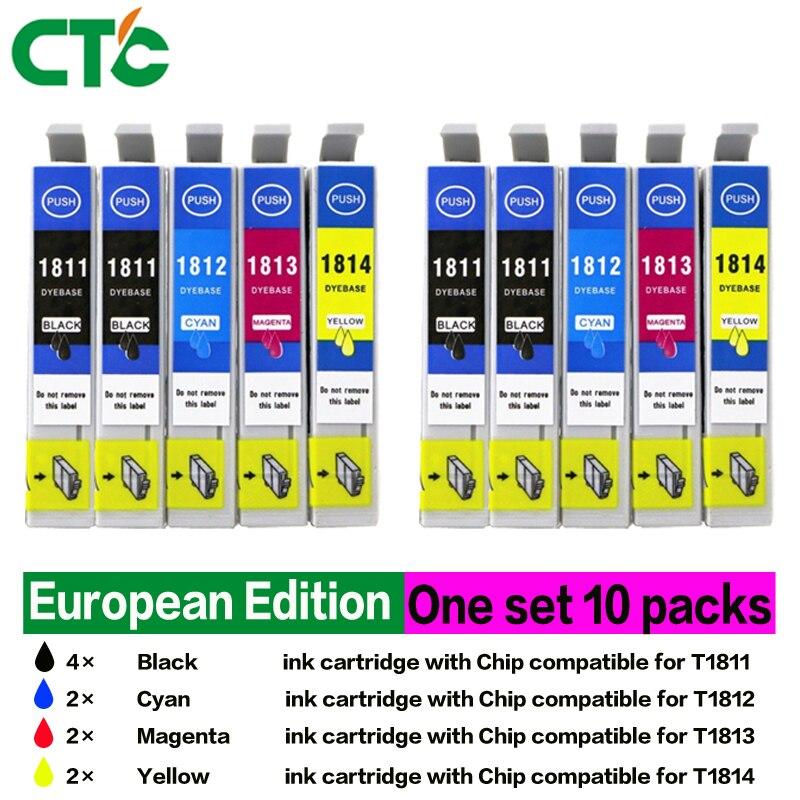 10P T1801 T1811 18 XL E-1811 E-18101 Ink Cartridges for Home XP415 XP225 XP322 XP325 XP422 XP425 Inkjet Printer
