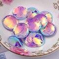 120 unids/lote 20 mm taza de gran tamaño dos agujeros redondos lentejuelas sueltas coser paillette, Craft boda, mujeres DIY accesorio de la ropa SCG202