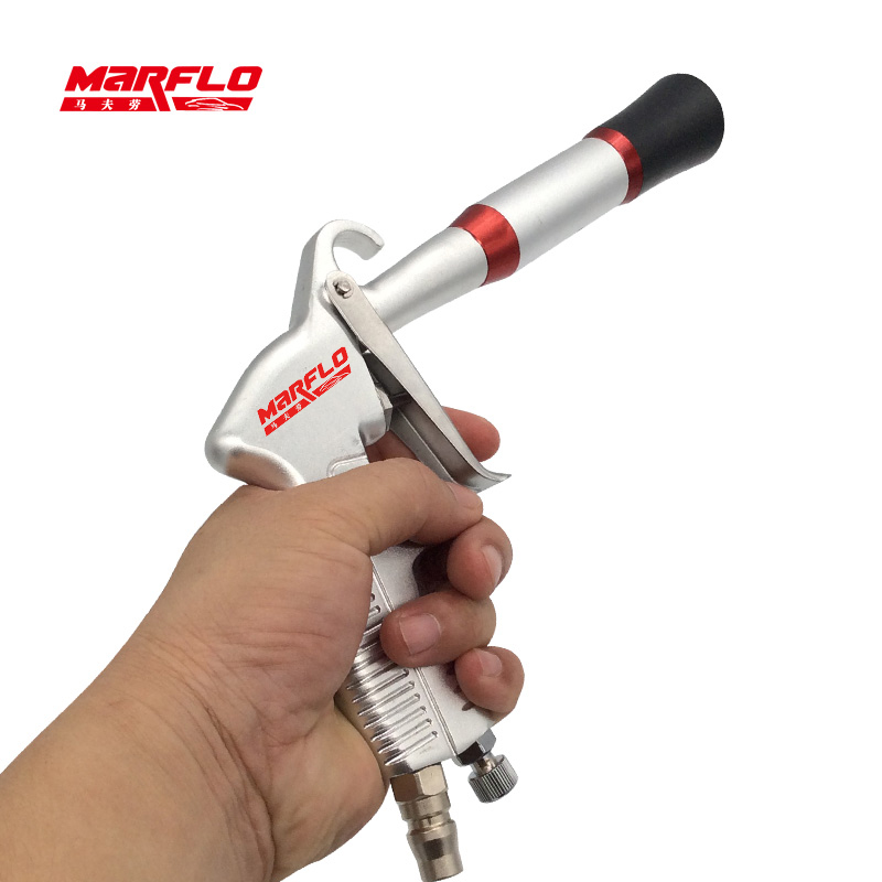 Tornado Car Wash MARFLO Car Cleaning Gun Japan Double Bearing High Pressure Air Blow Gun Dry Cleaning Tool With Brush(China)